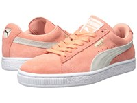 Puma Suede Classic Wn's Desert Flower White Women's Shoes Orange
