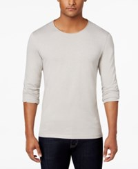 Inc International Concepts Men's Roll Tab Long Sleeve T Shirt Only At Macy's Smoked Silver