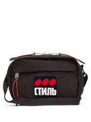 Heron Preston Стиль Applique Cross Body Bag Black