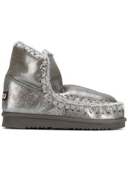 Mou Whipstitched Boots Metallic