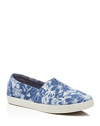 Toms Avalon Floral Slip On Sneakers Blue