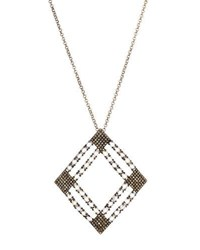 Bavna Moonstone And Pave Open Diamond Pendant Necklace