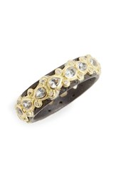Armenta Women's Old World Lacy Eternity Diamond And Sapphire Ring