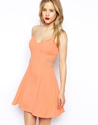 Asos Cami Sundress With Lace Inserts Pink
