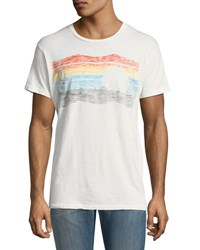Sol Angeles Desert Shadow Crewneck T Shirt D White