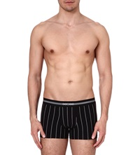 Hom Elegant Pin Striped Trunks Black