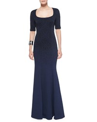 St. John Collection Degrade Embossed Sparkle Brocade Gown Women's