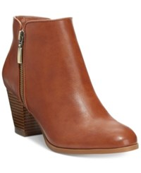 Styleandco. Style Co. Jamila Zip Booties Only At Macy's Women's Shoes Barrel Brown