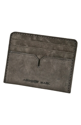 Andrew Marc New York 'Grove' Card Case Charcoal
