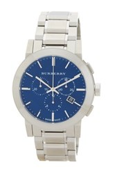 Burberry Men's Chronograph Bracelet Watch Metallic