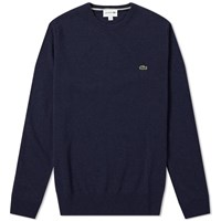 Lacoste Lambswool Crew Knit Blue