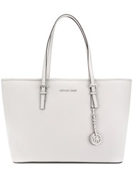 Michael Michael Kors Tag Plaque Tote Women Leather One Size Grey