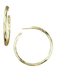 Ippolita Thin Glamazon Hoop Earrings Small Gold