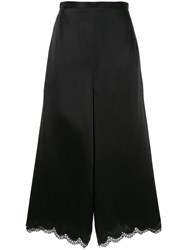 Andrew Gn Lace Detailed Trousers Black