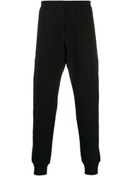 Alexander Mcqueen Skull Patch Detail Track Trousers Black