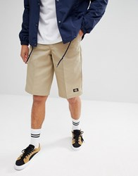 Dickies 13 Inch Multi Pocket Work Shorts In Stone