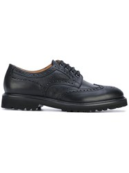 Aiezen Classic Lace Up Brogues Leather Rubber Black