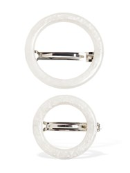 Cult Gaia Ria Set Of 2 Hair Barrettes Pearl