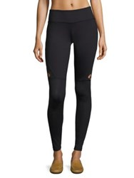 Track And Bliss Star Cut Out Leggings Black