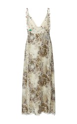 Christopher Kane String Marble Green Dress Print