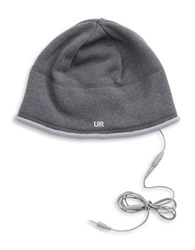 Ur Powered Two Piece Fleece Audio Beanie Set Grey