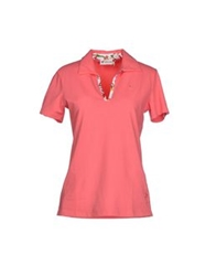 Piero Guidi Polo Shirts Coral