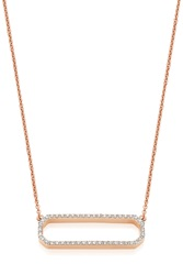 Monica Vinader Naida Rectangle Necklace R Gold