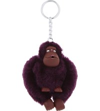 Kipling Monkey Keyring 6Cm Plum Purple