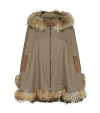Holland Cooper Cashmere And Wool Cape Female Brown