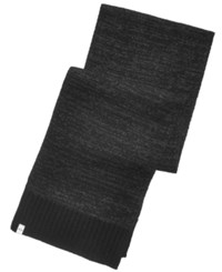 Alfani Men's Space Dyed Scarf Created For Macy's Black Charcoal