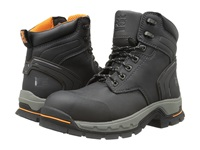 Timberland 6 Stockdale Alloy Safety Toe Black Micofiber Men's Work Boots Gray
