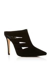 Raye Chloe Cutout High Heel Mules Black