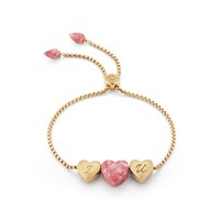 Lmj Luv Me Yellow Thulite Bracelet Gold Pink Purple