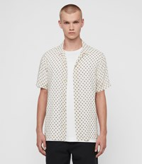 Allsaints Lucked Out Shirt Ecru Jet Black