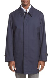 Men's Big And Tall Canali Reversible Waterproof Raincoat Navy