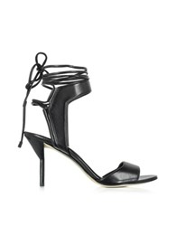 3.1 Phillip Lim Martini Black Leather Ankle Lace Mid Heel Sandal