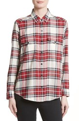 The Kooples Women's Plaid Flannel Shirt