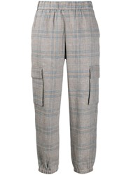 Semicouture Checked Tapered Leg Trousers 60