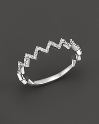 Bloomingdale's Diamond Zig Zag Ring In 14K White Gold .10 Ct. T.W.
