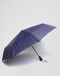 Fulton Umbrella In Blue Check Blue