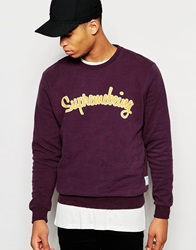 Supreme Being Supremebeing Sweatshirt With Script Logo Burgundy