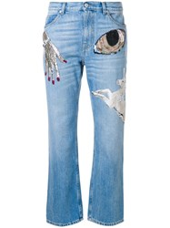 Alexander Mcqueen Big Obsession Jeans Blue