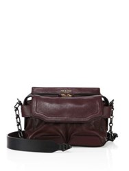 Rag And Bone Micro Pilot Leather Satchel Bordeaux Black