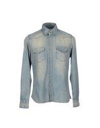 Reign Denim Denim Shirts Men Blue