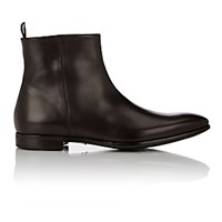 Giorgio Armani Men's Side Zip Ankle Boots Dark Brown