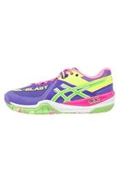 Asics Gelblast 6 Handball Shoes Purple Neon Green Flash Yellow
