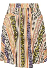 Just Cavalli Printed Jersey Skirt White
