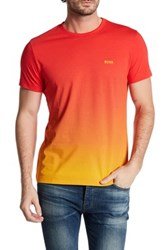 Hugo Boss Ombre Graphic Print Tee Red