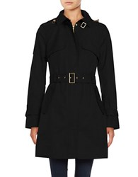 Cole Haan Signature Hooded Trenchcoat Black