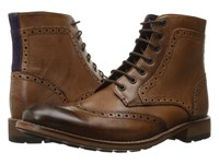 Ted Baker Sealls 3 Tan Leather Men's Lace Up Boots